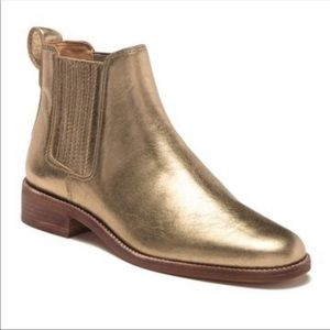 Madewell Ainsley Chelsea Metallic Ankle Boots